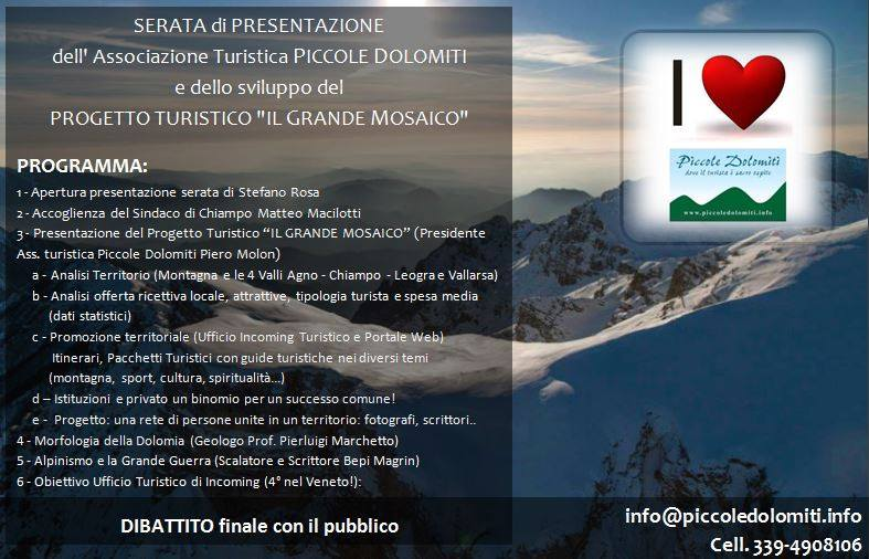 TOURISM MEETING PROGRAMMA